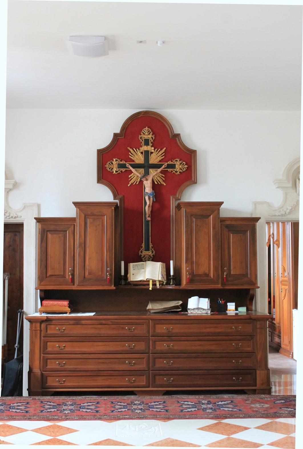 Mobile Sacrestia C | Mobili ed Armadi Sacrestia per chiesa in stile ...