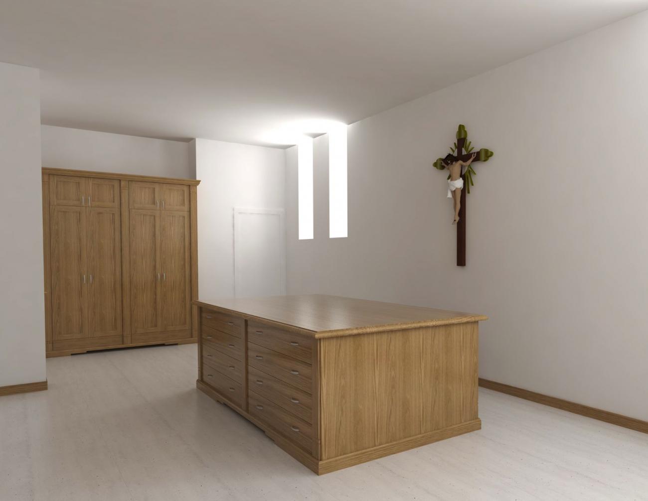 Mobili Sacrestia | Mobili ed Armadi Sacrestia per chiesa in stile ...